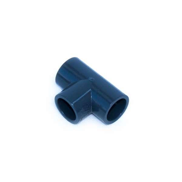 PVC-U Anschluss in T-Form mit 20 mm Klebemuffen