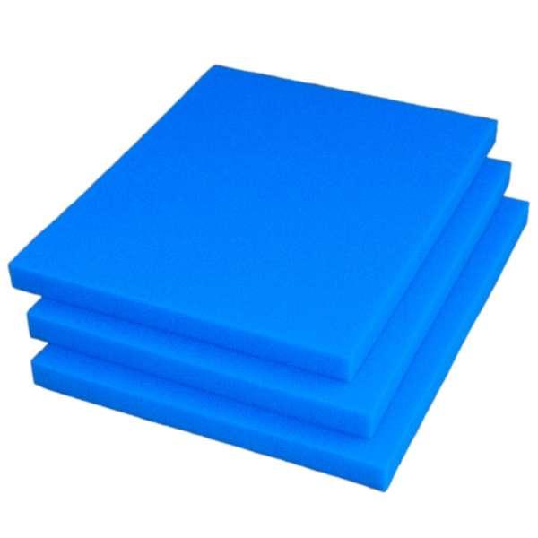3 feine Filtermatten 75x60x5 cm für Teiche