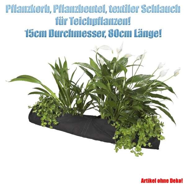Pflanzkorb länglich 15 x 80 cm für Teichpflanzen
