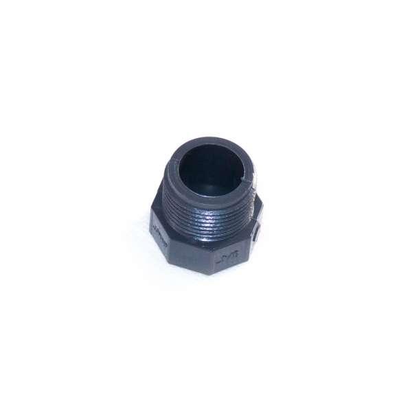 Verschlussstopfen mit G 3/4 Zoll Gewinde und Achtkant aus PVC Kunststoff