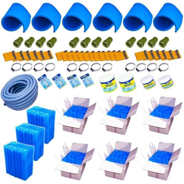 Komplettset mit Teichfiltermaterial für IBC Filteranlagen bis 300000l
