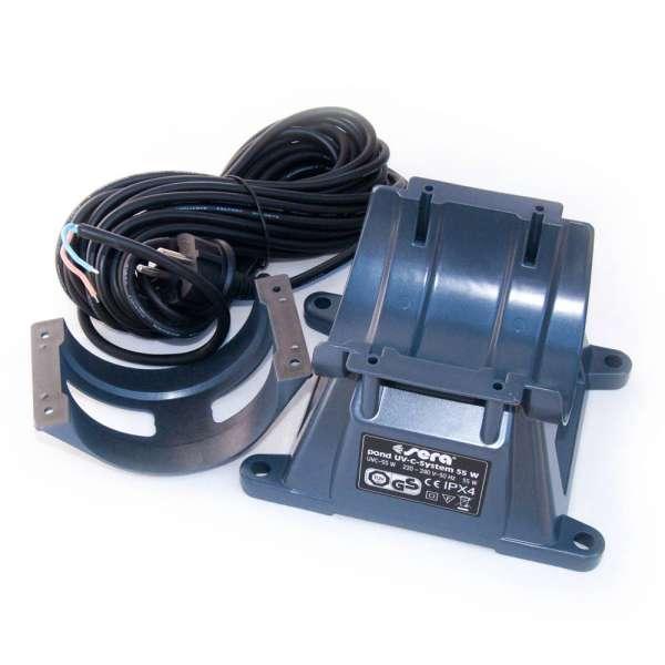 Ersatzteil 31201 Montagefuss Sockel mit Kabel und Spannring für Sera Pond 55W UV-C System