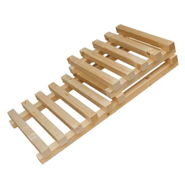 2 Holzstufen für Koi Filteranlagen als Unterbau