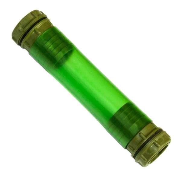 Grüner Verbinder für Regenfässer mit 50 mm Anschlüssen