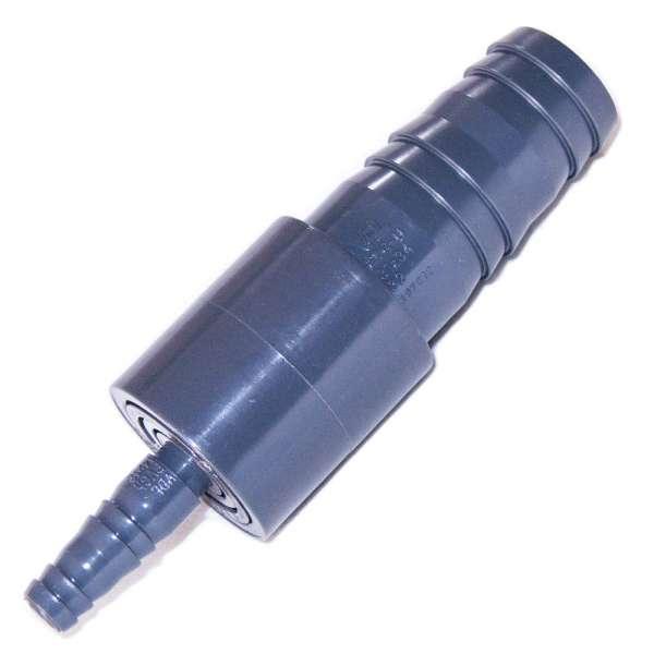 Verbinder aus PVC-U für Schlauch mit 12,5 und 32 mm Durchmesser