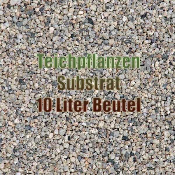 10 Liter Beutel Sack mit Substrat Granulat als Teichsubstrat für Teichpflanzen im Gartenteich und Aquarium