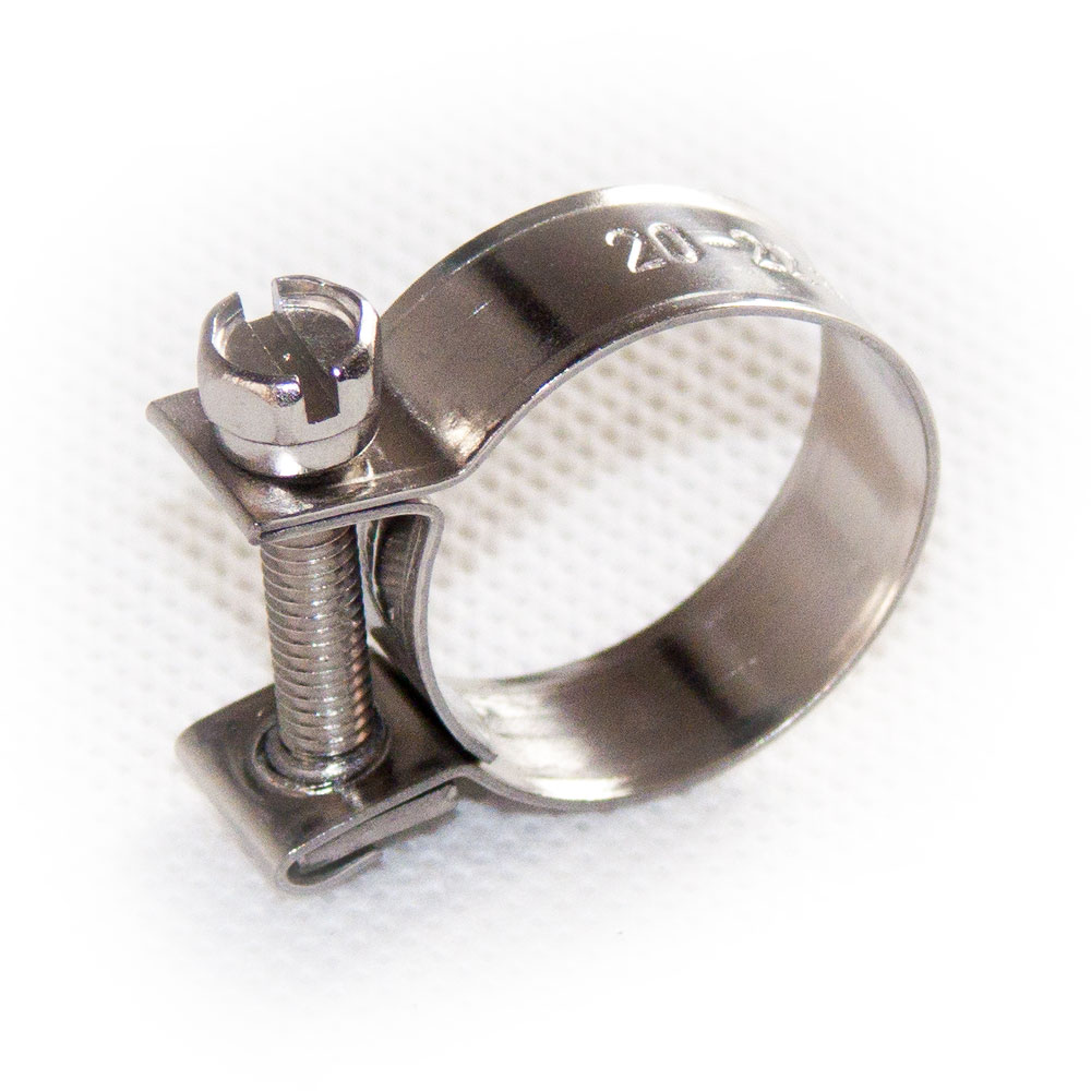 Mini Schlauchschellen 9-11 mm 15 Stück Set W1 Stahl verzinkt Spannbackenschellen
