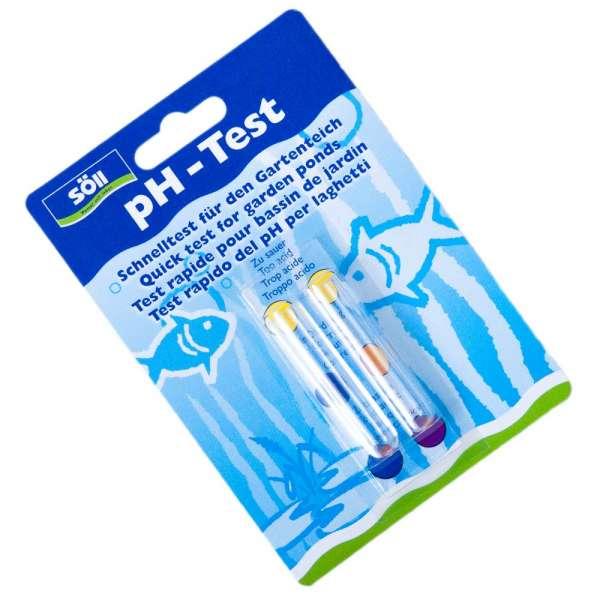 Wassertest für pH-Wert im Teich von Söll