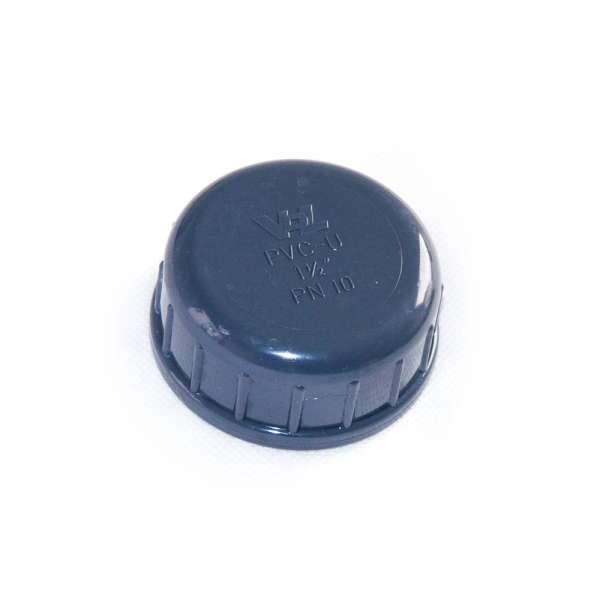 Verschlusskappe mit G 1 1/2 Zoll Innengewinde aus PVC-U Kunststoff von VDL mit Dichtung