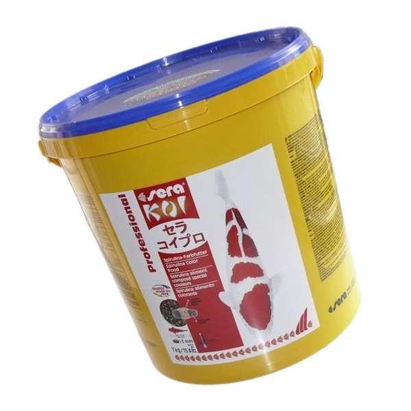 Farbfutter für Koi mit Spirulinaalgen von Sera 7 kg