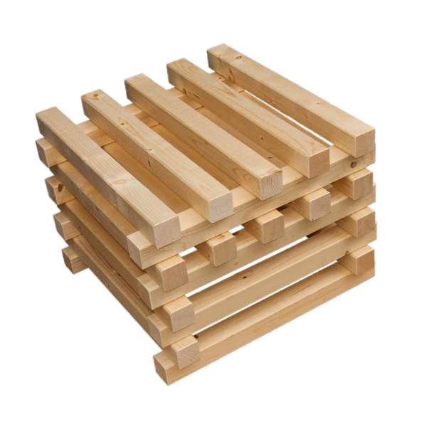 1 Holzpodest als Erweiterung zum Teichfilter Unterbau
