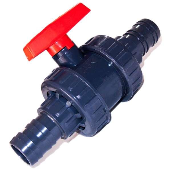 Kugelhahn mit 40 mm Tüllen zum Absperren
