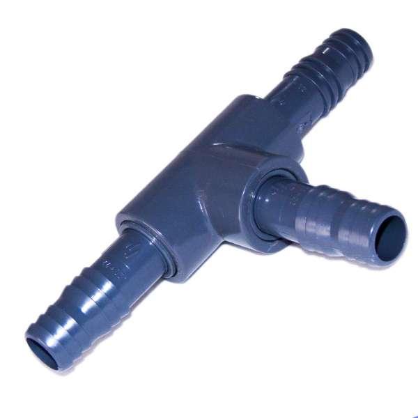 T-Verbinder aus PVC mit 20 mm Schlauchstutzen