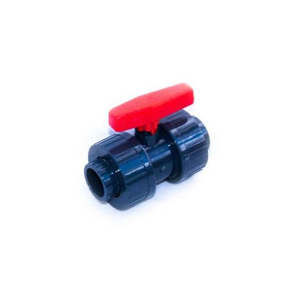 PVC Kugelhahn mit 20mm Klebemuffen für Fittinge