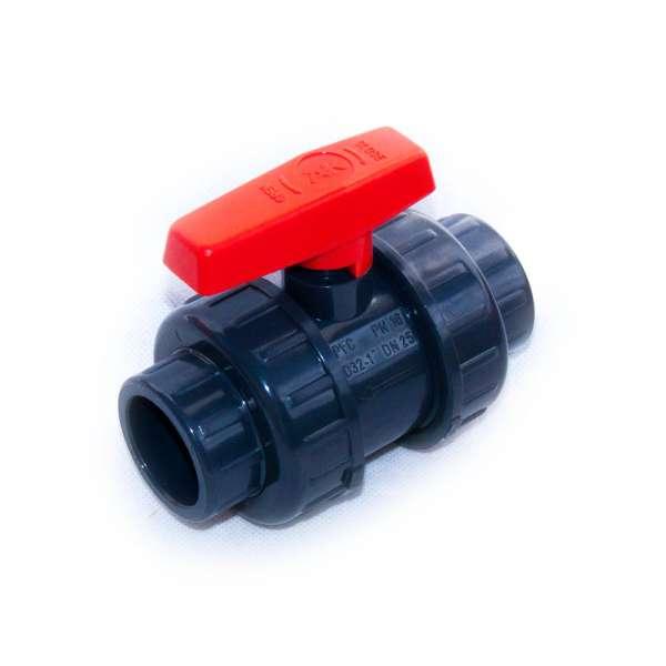 32 mm Kugelhahn aus PVC-U für Teichbau