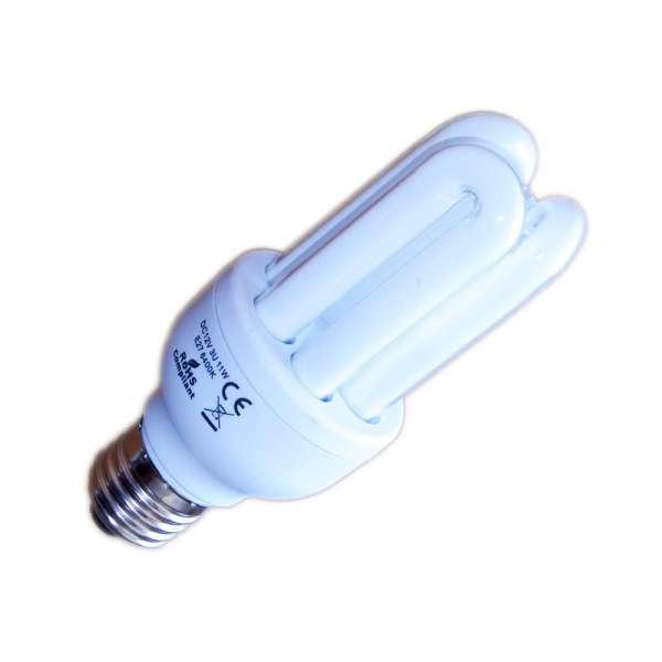 11 Watt 12 Volt DC Solar Energiesparlampe E27