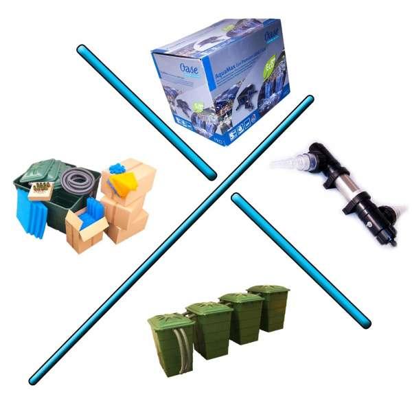 Oase 12V Schwimmteichfilter 50000l mit Pumpe und UV-Klärer