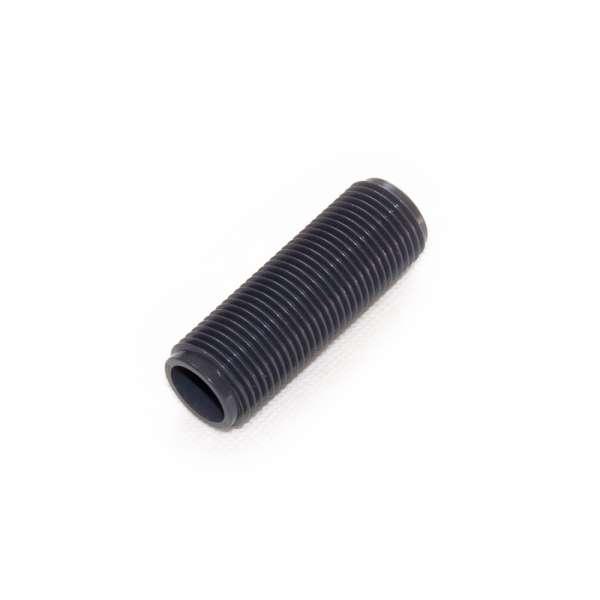 Gewinderohr G 1/2 Zoll x 60mm Länge aus PVC Kunststoff Plastik innen hohl als Gewindehülse
