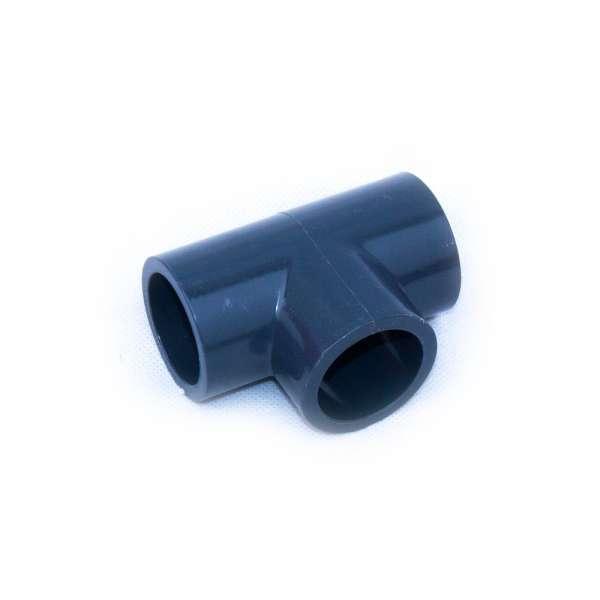T-Verteiler aus PVC-U mit 32 mm Klebeanschluss