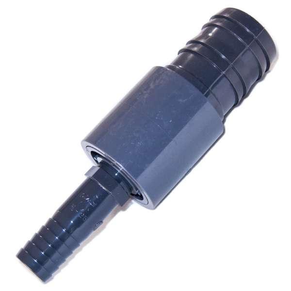 Schlauchverbinder gerade 25 mit 50 mm aus PVC-U