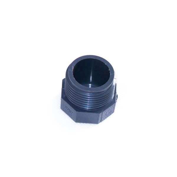 Verschlussstopfen mit G 1 Zoll Gewinde und Achtkant aus PVC Kunststoff