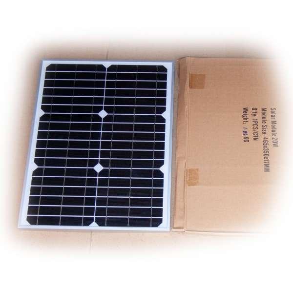 Solarmodul 12V 20W monokristallin