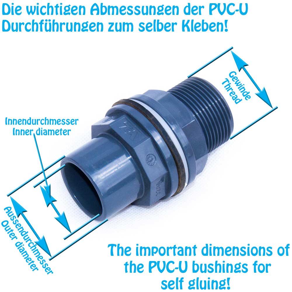 PVC-U Durchführung Klebemuffe x Aussengewinde