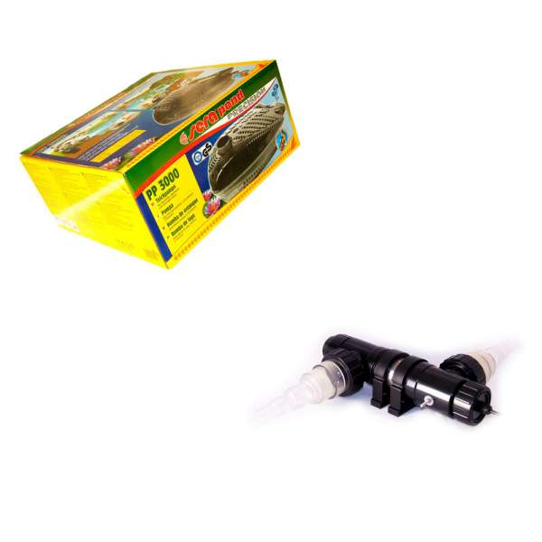 Technikset für Gartenteiche mit Sera PP 3000 Pumpe und Van Gerven 18W UVC bis 5000 l