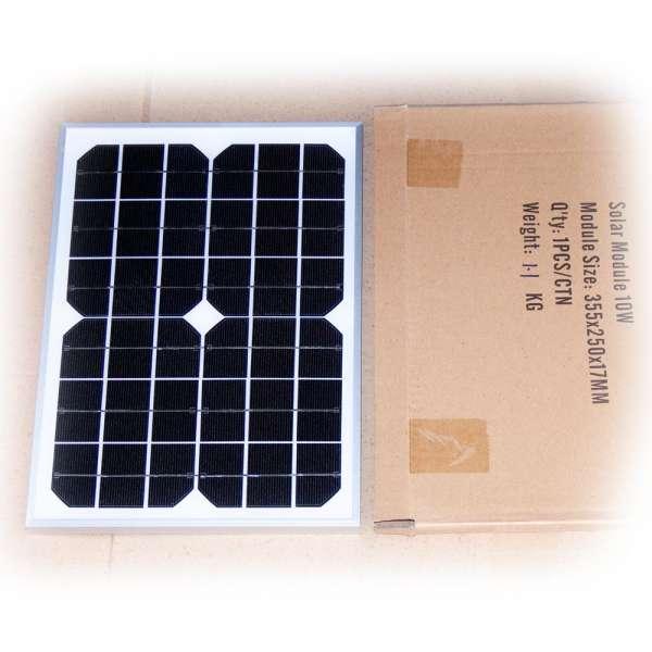Solarmodul 12V 10W monokristallin
