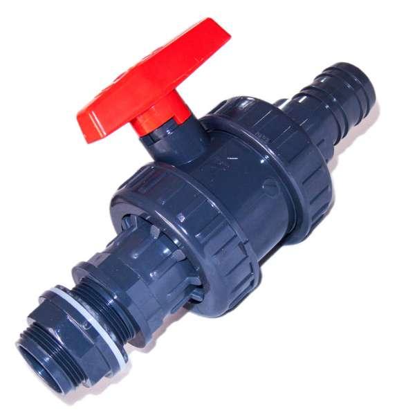 PVC Auslaufhahn 40 mm für Teichfilter