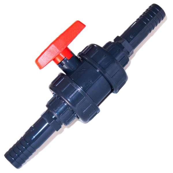 PVC Kugelhahn 25 mm für Teichschlauch