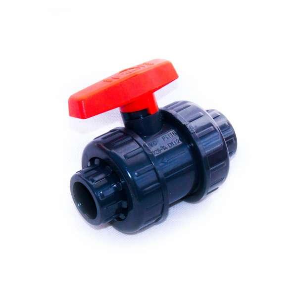 Stabiler Kugelhahn aus PVC-U mit 25mm Klebeanschluss