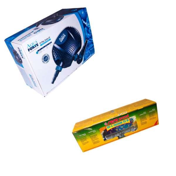 Technikset Eco und Sera für Schwimmteich mit Pumpe und UV