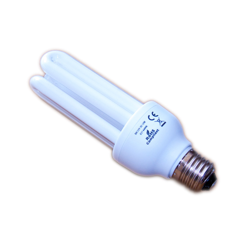 12v dc energiesparlampe mit 15w leistung und e27 fassung. Black Bedroom Furniture Sets. Home Design Ideas
