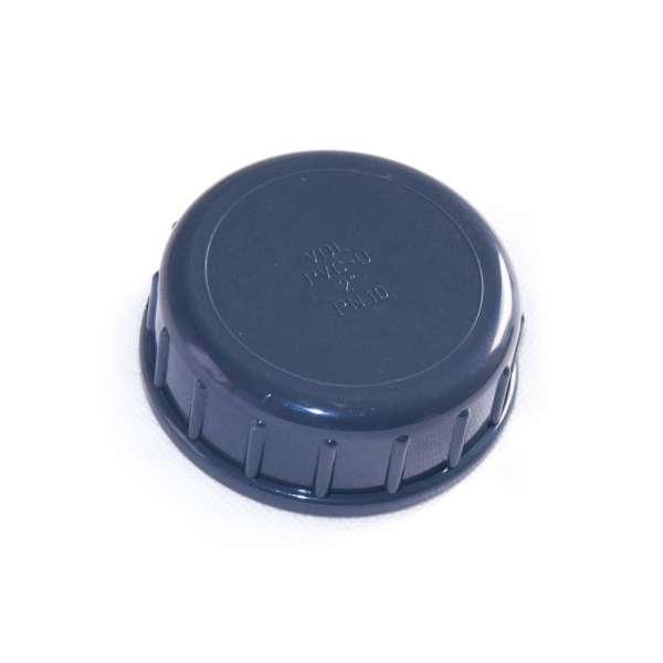 Verschlusskappe mit G 2 Zoll Innengewinde aus PVC-U Kunststoff von VDL mit Dichtung als Schraubdeckel