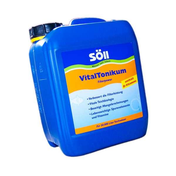 Filterleistung mit 5l Söll VitalTonikum bis 50000l Wasser verbessern