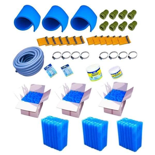 Filtermaterial Set für Teichfilter aus IBC Tanks bis 150000 l Wasser