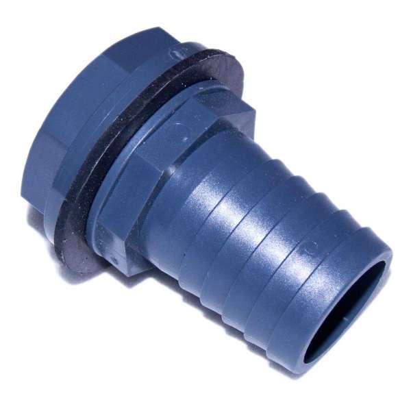 40 mm Anschluss für Schlauch mit Kontermutter