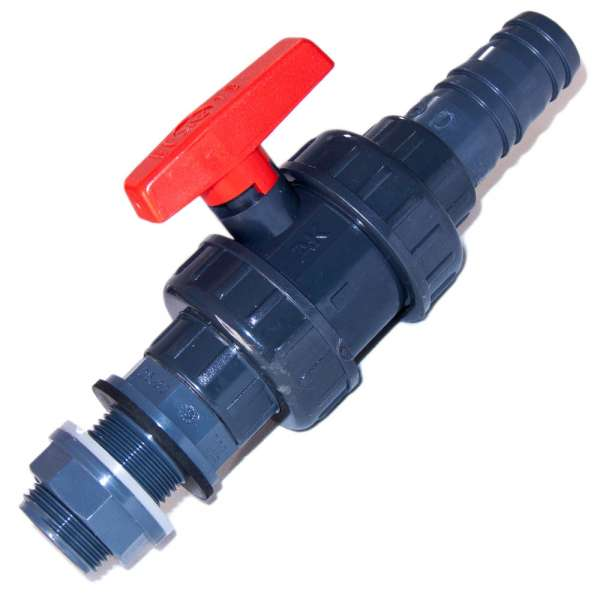 32mm PVC-U Auslaufhahnsystem für Teichfilter