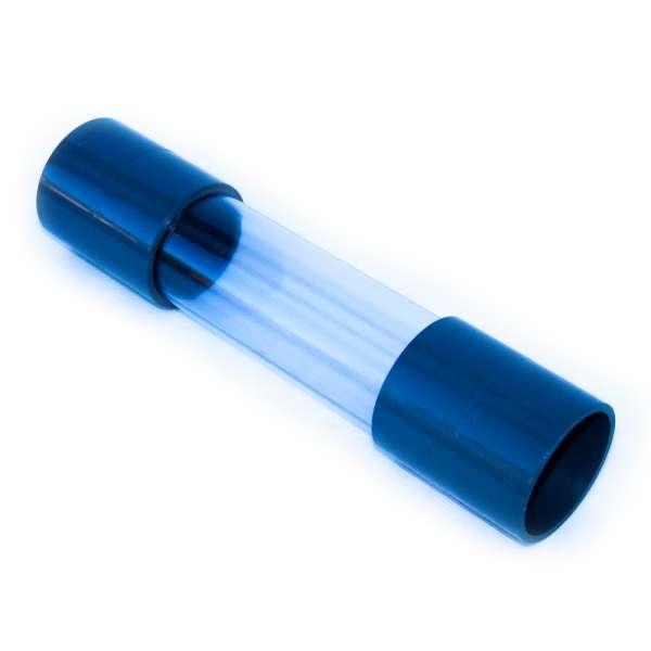 PVC Muffe 50 mm mit Schauglas als Sichtfenster transparent