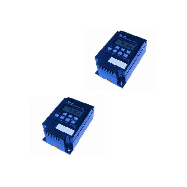 2 Stück Solar Digitalzeitschaltuhren 30A 12V im Set TM 616