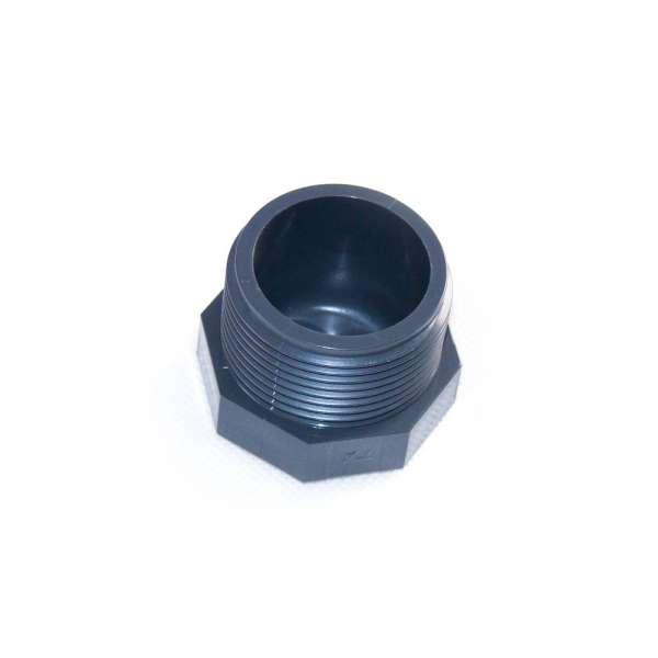 Verschlussstopfen mit G 1 1/4 Zoll Gewinde und Achtkant aus PVC Kunststoff